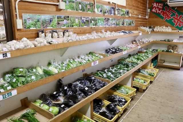 道の駅むげ川の新鮮野菜